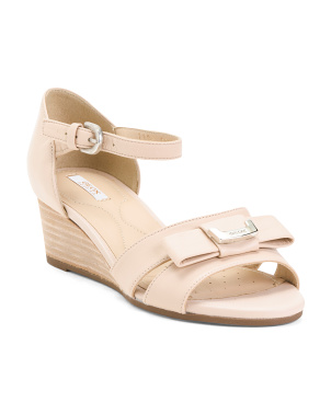 Comfort Leather Wedge Sandals