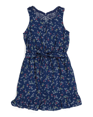 Little Girls Ditzy Floral Dress