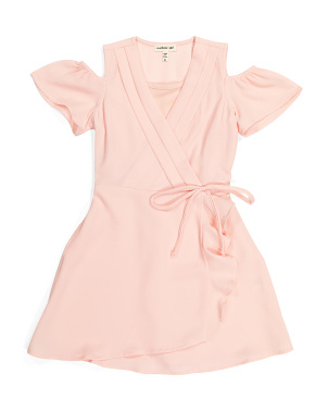 Little Girls Faux Wrap Dress