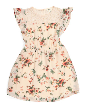 Little Girls Floral Lace Dress