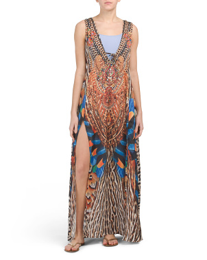 Luxury Embellished Maxi Dress Cover-up