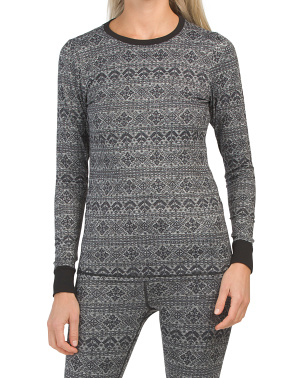 Nordic Printed Baselayer Crew Neck Top