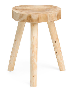 24in Wood Accent Table