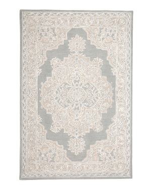 5x7 Hand Tufted Wool Blend Medallion Area Rug