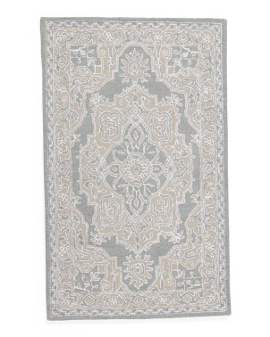 Hand Tufted Medallion Scatter Rug