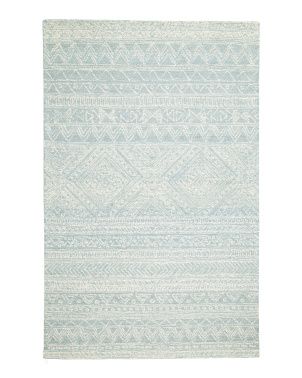 5x8 Hand Tufted Geo Pattern Area Rug