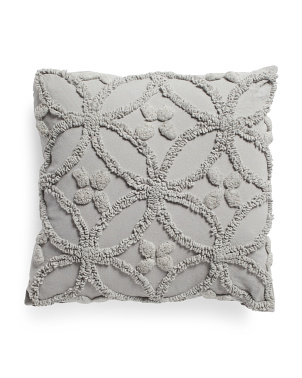 20x20 Tufted Towel Stitched Pillow