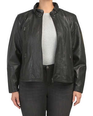 Plus Classic Leather Jacket