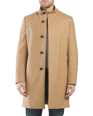 Belvin Wool And Cashmere Blend Over Coat