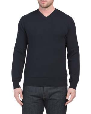 Hiles Cashmere V-neck Sweater
