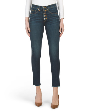 Made In Usa High Rise Stretch Denim Jeans