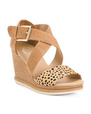 Comfort Wedge Suede Sandals