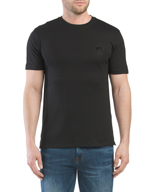 Pima Cotton Embroidered Head Tee