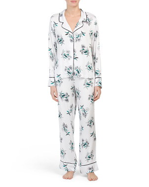 Pj Whisper Floral Notch Collar Shirt With Pants Set