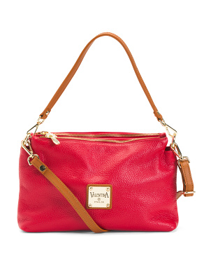 Made In Italy Leather Multi Entry Crossbody