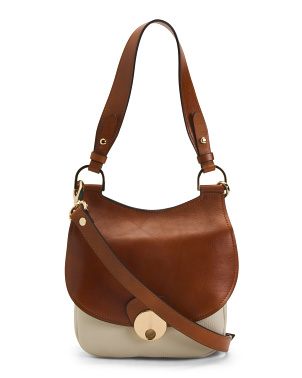 Made In Italy Leather Saddle Crossbody