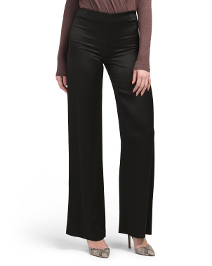 Crepe Satin Wide Leg Pants