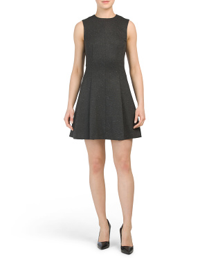 Melange Ponte Seamed Dress