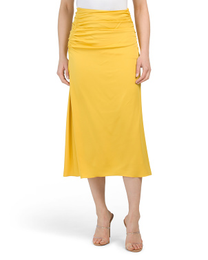 Stretch Silk Twisted Skirt