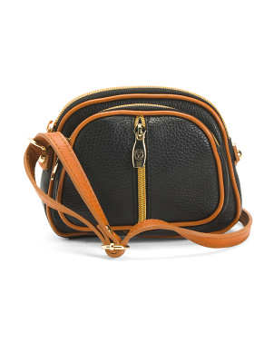 Made In Italy North South Leather Crossbody
