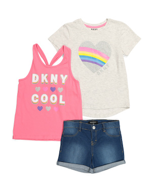 Little Girls 3pc Short Set