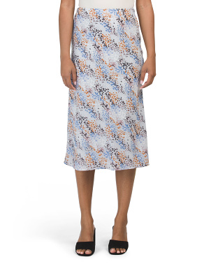 Juniors Dot Printed Slip Skirt