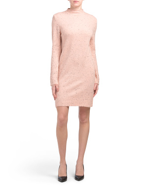 Long Sleeve Mock Neck Sweater Dress