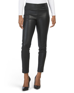 Leather Crop Leggings