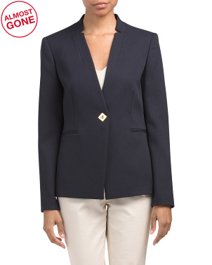 Jacket With Turn Lock Closure