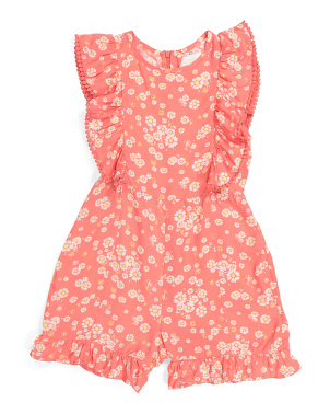 Big Girls Floral Romper