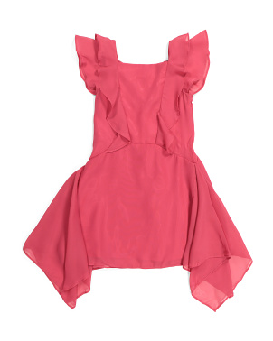 Little Girls Flutter Chiffon Dress