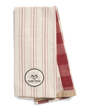 2pk Farmers Market Kitchen Towels