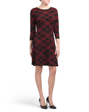Windowpane Sweater Dress