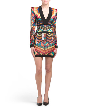 Geometric Print Knit Dress