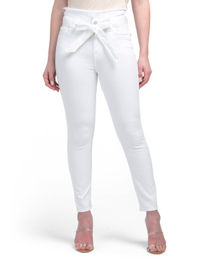 Paperbag Waist Ankle Skinny Jeans