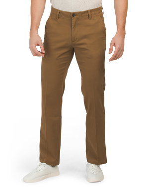 Easy Khaki Stretch Straight Fit Pants