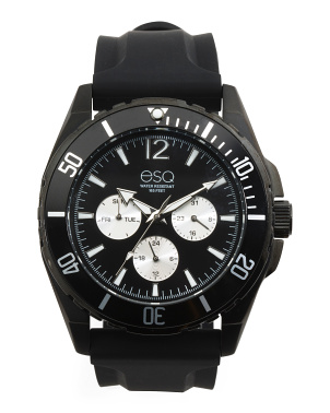 Men's Silicone Strap Watch