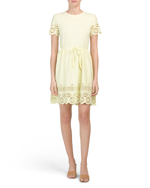 Santoline Jersey Eyelet Detail Dress
