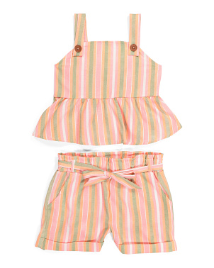 Little Girls Peplum Short Set