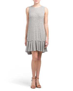 Brushed French Terry Ruffle Hem Dress