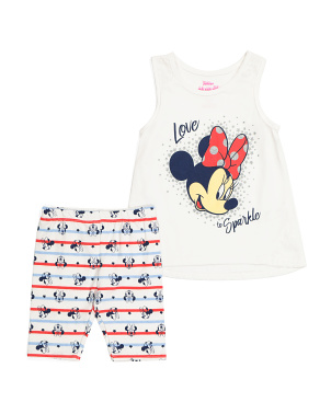 Little Girls Minnie Mouse Short Set