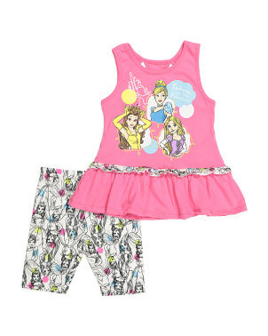 Little Girls Princess Peplum Short Set