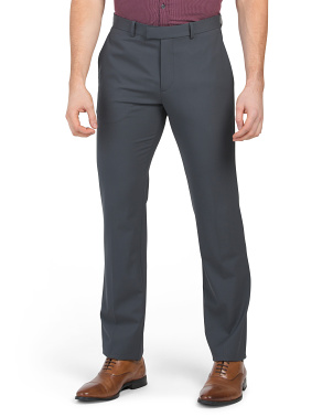 Marlo Flat Front Wool Dress Pants
