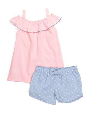 Little Girls 2pc Ruffle Short Set