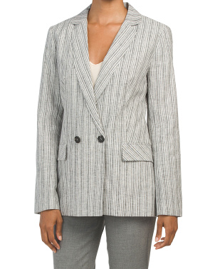 Linen Blend Relaxed Fit Carousel Jacket