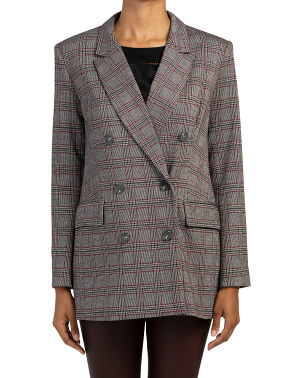 Menswear Plaid Blazer