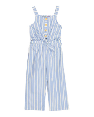 Big Girls Tie Front Jumpsuit