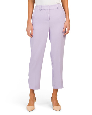 Parisian Crepe Straight Crop Pants