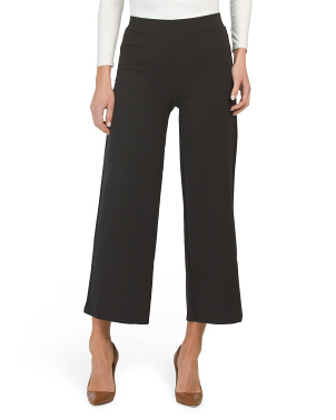 Bi-stretch Wide Leg Pull On Pants