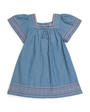 Big Girls Flutter Sleeve Dress